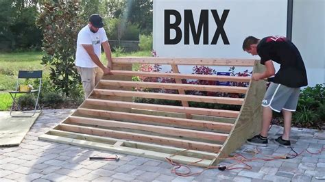 How To Build A Quarter Pipe For Bmx Racing